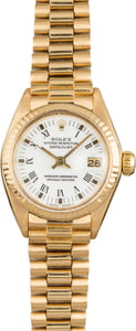 Used Rolex President 6917 White Roman Dial