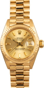 Ladies Rolex President Yellow Gold 6917