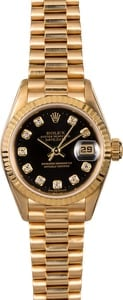 Rolex President 69178 Diamond Ladies Watch