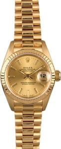Rolex Ladies Datejust 69178 Champagne Index Dial