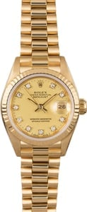 Rolex Lady President 69178 Diamond Dial
