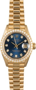 Rolex Lady President 69178 Blue Diamond Dial