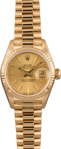 Pre Owned Rolex Lady President 69178 Champagne Dial