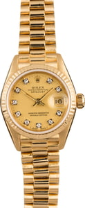 PreOwned Rolex Lady President 69178 Diamond Dial
