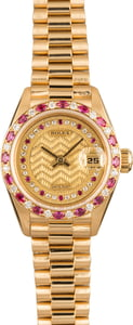 Pre-Owned Rolex Ladies President 69198 Sapphire & Diamonds