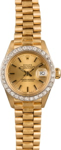 Pre-Owned Rolex Lady President 6927 Diamond Bezel