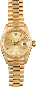 Pre Owned Rolex Lady President 6927 Barked Finish