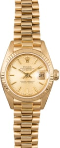 Rolex Ladies President 69278 Tapestry Dial