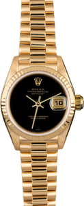 Rolex Ladies President 79138 Black Dial