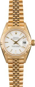 Used Rolex Yellow Gold Datejust 79178 White Dial