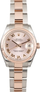 Pre Owned Rolex Mid-Size Datejust 178271 Two Tone Everose