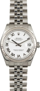 Pre-Owned Rolex Datejust 178274 White Roman Dial