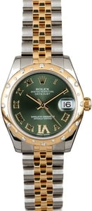PreOwned Rolex Datejust 178343 Olive Green Dial