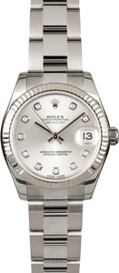 Rolex Datejust 178274 Silver Diamond Dial