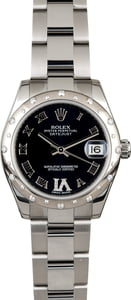 Rolex Mid-size Datejust Diamond 178344 Black
