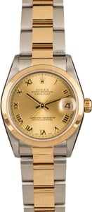 Used Rolex Mid-size Datejust 78243 Champagne Dial