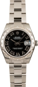 Factory Stickered Rolex Mid-size Datejust 178344