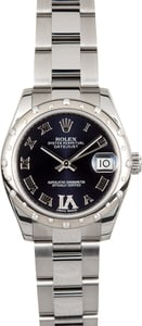 Rolex Mid-size Datejust Diamond 178344 Purple