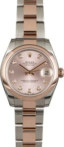 Rolex Datejust 178241 Two Tone Everose Rose Dial