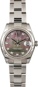 Rolex Datejust 178274 Black MOP Diamond Dial
