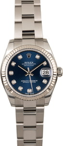 Rolex Datejust 178274 Blue Diamond Dial