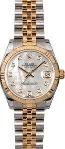 Rolex Datejust 178273MDJ Mother of Pearl Diamond Dial