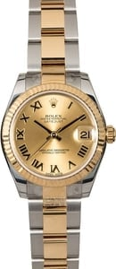 Mid-Size Rolex Datejust 178273 Two Tone Oyster