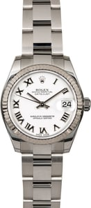 Mid-Size Rolex Datejust 178274 White Dial