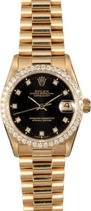 Rolex Midsize Datejust 68278 Black Diamond Dial