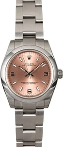 Midsize Rolex Oyster Perpetual 177200 Pink Dial