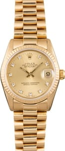 Rolex Midsize Datejust 68278 Champagne Diamond Dial