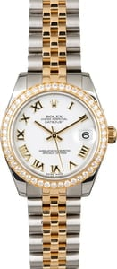 Rolex Datejust 178383 Mid-Size Diamond Bezel
