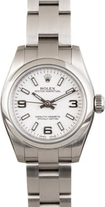 Pre Owned Ladies Rolex Oyster Perpetual 176200 White Dial