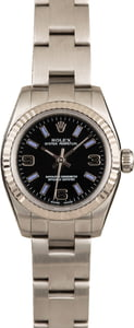Pre-Owned Rolex Ladies Oyster Perpetual 176234 Black Dial