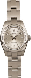 Used Rolex Oyster Perpetual 176200 Silver Luminous Dial