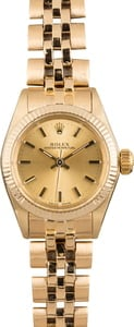 PreOwned Ladies Gold Rolex Oyster Perpetual 6719