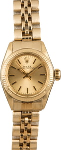 Used Ladies Gold Rolex Oyster Perpetual 6719