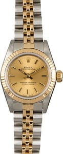 PreOwned Rolex Oyster Perpetual 67193 Champagne Index Dial