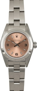 Pre Owned Rolex Ladies Oyster Perpetual 76080 Pink Dial