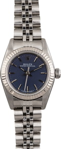 PreOwned Rolex Lady Oyster Perpetual 76094 Blue Index Dial