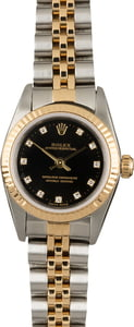 Rolex Oyster Perpetual 76193 Black Diamond Dial