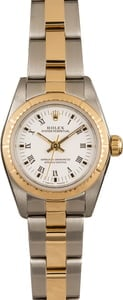 Pre Owned Rolex Ladies Oyster Perpetual 76243 Two Tone Oyster