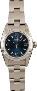 PreOwned Rolex Oyster Perpetual Ladies 76080 Blue Dial
