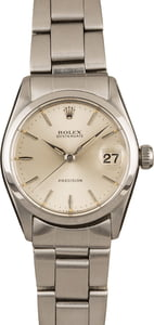 Pre Owned Vintage Rolex OysterDate MidSize Steel 6466