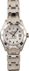 Pre Owned Rolex Pearlmaster 80319 Blue Sapphires