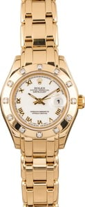 Pre Owned Rolex Pearlmaster 69318 Diamond Bezel