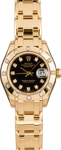 Pre-Owned Rolex Lady Pearlmaster Datejust 80318 Diamond Bezel & Dial