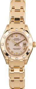 Pre Owned Rolex Pearlmaster 80318 Diamonds T