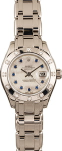 Pre Owned Rolex Pearlmaster 80319 Sapphire Mother of Pearl Dial