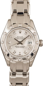 White Gold Rolex Pearlmaster 80319
